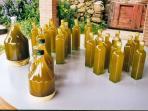 Olive oil at the veranda