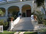 the improsing entrance of villa-atalanti in Gouvia a Corfu