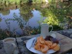 Coffee and a Poitou Charente melon, taste one and you know why they are famous. Picture perfect spot