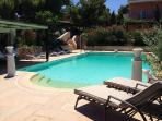 Huge private pool with built-in massage function. The ultimate in Athenian luxury and relaxation!