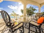 Screened in veranda facing the Caribbean ocean. Great sunsets. W/BBQ