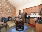 Living room/kitchen/dinette combination