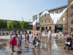 Granary Square fountains - a great place to cool down after a day of seeing the sights!