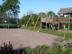 Large play area for our younger guests and including a boules pitch.