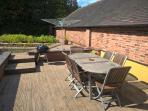 Decking and BBQ Area in Kitchen Garden