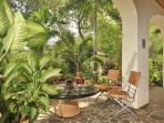 Lush Tropical gardens around one of the Infinity Studio veranda's