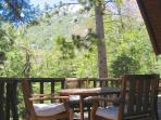 Outside seating area with amazing views of all that Idyllwild has to offer.