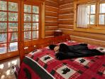 Bear room with queen bed & private access to deck area