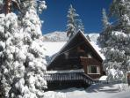 Winter time at Lily Rock Lodge.