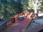 Multi level deck with outdoor seating