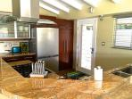 Large Kitchen, fully equipped for the gourmet chef.