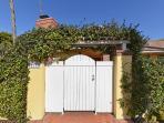 Entrance to the Shores beach house on Vallecitos