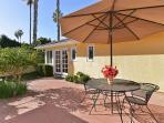 Sunny private patio