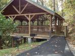 Reserve-able pavilion located in recreation area