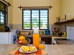 Kitchen. it is equipped with your basic amenities like a cooker with oven, microwave Fridge and more