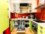full kitchen with all modern utilities included