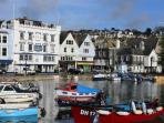 Dartmouth 'Boat Float' and Royal Castle Hotel approx 90 seconds from property.