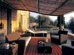 External covered lounge area
