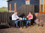 Stuart and Joanne enjoying tea at Pheasant