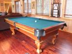 Wooden claw foot pool table