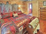 You'll love the restful sleep this king-sized bed provides.