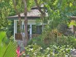 Beautiful Palm Cottage as seen from our tropical gardens