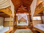 Children's Suite - Double Bed and Four Bunk Beds