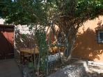 The patio and the lunch area