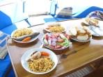 Lunch served on board your boat trip