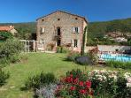 Mas Rouby - 200 year old farmhouse.  Gardens, pool, terraces and wonderful panoramic views