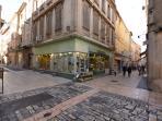 Angle rue Ste Anne et rue piétonne
