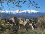 Mt Canigou dominaes the skyline where ever you are in the area, snow covered most of the year