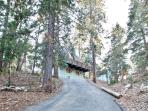 Driveway leading to the cabin