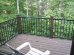 Back Deck with Forested Ravine Views