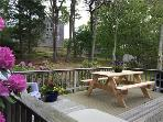 Outdoor deck - Adirondack chairs & Weber Grill - huge outside shower