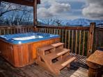 hot tub w/ view