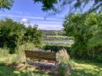 The peacefully located cottage stands in well-maintained grounds overlooking the River Tywi
