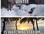 My favorite part of winter is watching it from Puerto Ricp !!