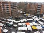 Veduta del mercato di Porta Portese