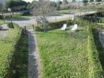 Vista del giardino dal terrazzo