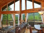This Picture Does Not Due The Gorgeous Views Justice, That You Can See From This Cabin!
