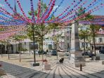 Local town decorated for Occitan festival (July)