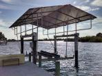 10,000 # covered boat lift