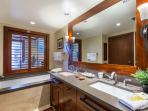 Luxurious and spacious master bathroom with separate bath tub and show stall