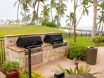 Outdoor barbecue and dining by lagoon 2