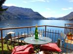 Spectacular Lake Como views from the private balcony