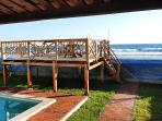 Wooden deck overlooking the beach
