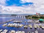 View from Lanai.  Legacy Harbor Marina.
