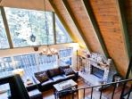 View of living room from the upper level