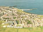 Arial view of Rosehearty